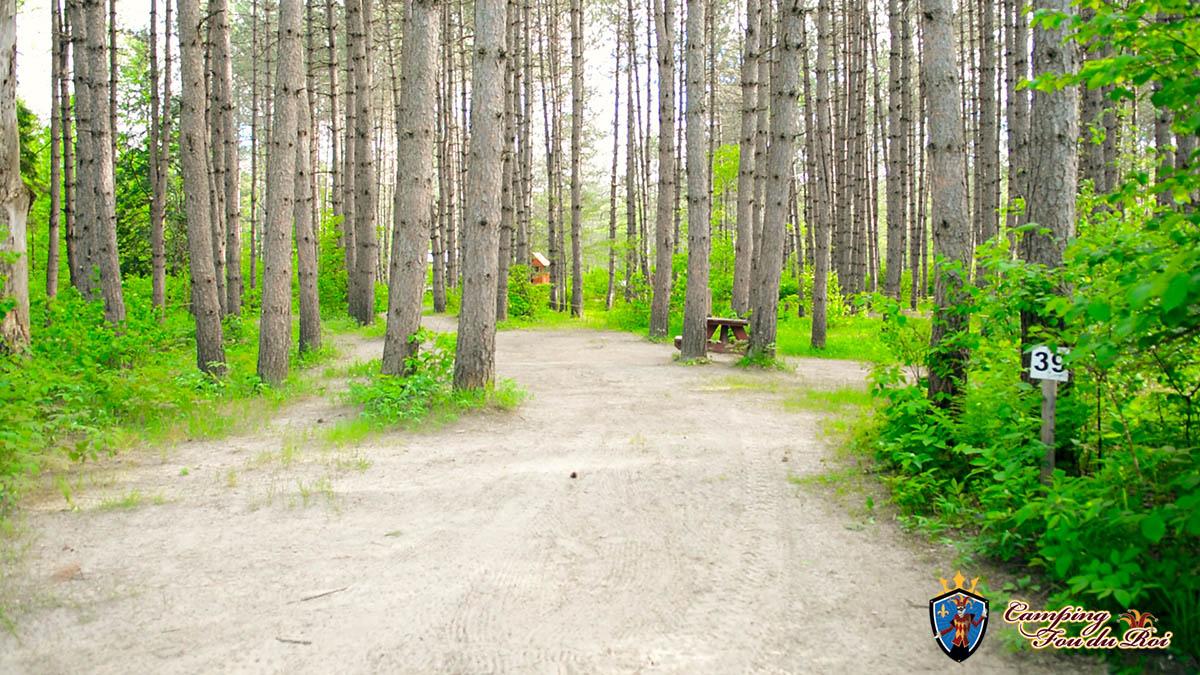Camping Fou du Roi : Terrain #39