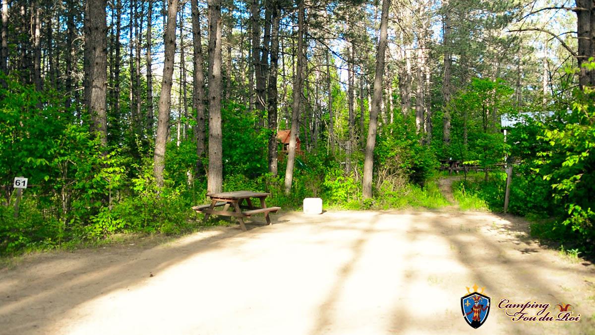 Camping Fou du Roi : Terrain #61